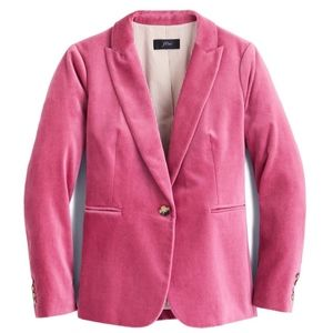 New JCREW Size 6 Pink Parke Blazer in Velvet